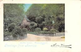 Greetings From America - Quaker-house Massachussett 1899 AKS - Gruss Aus.../ Grüsse Aus...