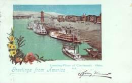 Greetings From America - Landing-Place Of Cincinnati. Ohio 1899 - Gruss Aus.../ Grüsse Aus...