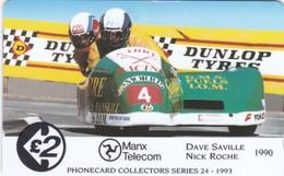 Isle Of Man, 19IOMB, TT Racers 1993, Saville/Roche, 2 Scans, - Isle Of Man