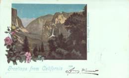 Greetings From America - California Yosemite Village 1899 AKS - Gruss Aus.../ Grüsse Aus...