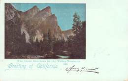 Greetings From America - California The Three Brothers In The Vailley-Yosemite  1899 AKS - Gruss Aus.../ Grüsse Aus...