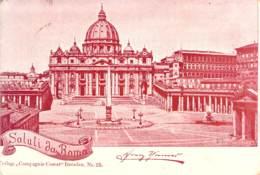 Saluti Da Roma - Petersdom 1898 AKS - Gruss Aus.../ Grüsse Aus...