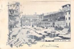 Ricordi Di Verona - Piazza D'Erba 1898 AKS - Gruss Aus.../ Grüsse Aus...