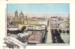 Ricordi Di Palermo - Panorama Da Porta Nuova 1899 AKS - Gruss Aus.../ Grüsse Aus...