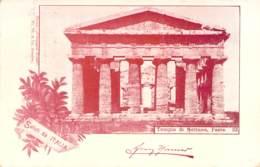 Saluti Da Italia - Tempio Di Nettuno,Pesto 1898 AKS - Gruss Aus.../ Grüsse Aus...