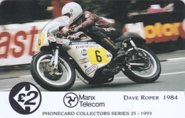 Isle Of Man, 19IOMD, TT Racers 1993, Dave Roper, Mint, 2 Scans. - Isla De Man