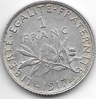 *france 1 Franc 1917  Km 844.1   Xf - H. 1 Franc
