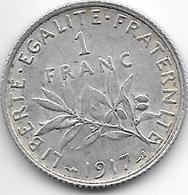 *france 1 Franc 1917  Km 844.1   Xf - H. 1 Franco