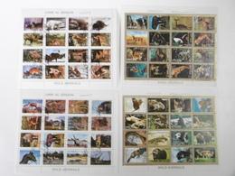 Animaux Sauvages WILD ANIMALS Feuillets 1973 UMM AL QIWAIN Et AJMAN STATE - Briefmarken