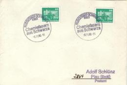 DDR Beleg Mit Sonderstempel Rudolstadt-Schwarza Chemiefasern 1980 - [6] République Démocratique