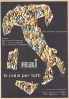 """LOTTERIE _ 15.1.1950  /   Concorso """" LA RADIO PER TUTTI """" _ Verranno Sorteggiati 10 Fiat 500 E 1000 Apparecchi Radio - Cartoline"""