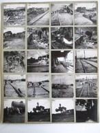 26 PHOTOGRAPHIE : JUVISY CONSTRUCTION DU PONT VOIE FERREE TRAIN LOCOMOTIVE TRAVAUX PUBLICS METIER 91 ESSONNE - Juvisy-sur-Orge