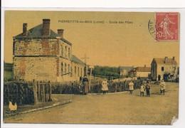 Pierrefitte ès Bois (45 Loiret) école Des Filles - édit Planson Version Luxe Colorisée Circulée 1908 - Altri Comuni