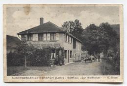 57 - ABRESCHVILLER - LETTENBACH - GASTHAUX ZUR WALDESLUST - VOIR ZOOM ET ETAT - Nancy