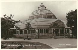 REAL PHOTOGRAPHIC POSTCARD - THE PALM HOUSE - SEFTON PARK - LIVERPOOL - Liverpool