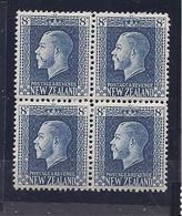 NEW ZEALAND1921:Michel162(Scott156)mnh** Block Of 4 Cat.Value155Euros($176) - 1907-1947 Dominion