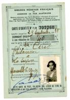 CARTE D IDENTITE CHEMINS DE FER ALGERIENS  DE 1938 - Titres De Transport