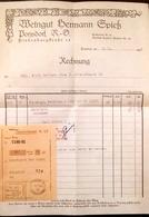 AD171 Alte Rechnung Weingut Hermann Spieß Poysdorf, Reichsmark, 1944 - Austria