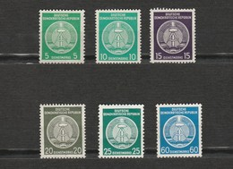 DDR - Lot 6 Timbres Dienstmarke Armoirie - Deutsche Demokratische Republik - Ungebraucht