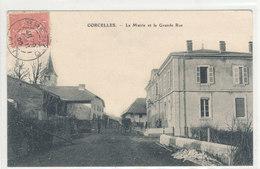 Ain - Corcelles  La Mairie Et La Grande Rue - France