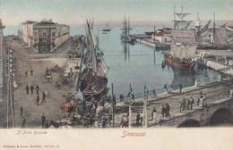 SIRACUSA-IL PORTO GRANDE-CARTOLINA NON VIAGGIATA ANNO 1900-1904 - Siracusa