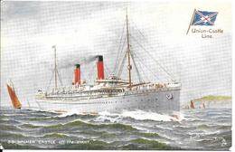 CPA- Vers 1900-PAQUEBOT-S.S.WALMER CASTLE-Cie ROYAL MAIL UNION CASTLE-Ligne Afrique Sud-TBE-RARE - Paquebots