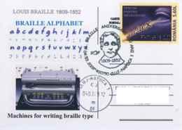 7219 Bicent. De La Naissance De Louis Braille: Oblit.+ C.p. Commemorative 2009 - Sp.Cancel, Blindness Stamp! Aveuglement - Medizin