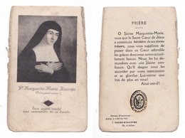 Relique Marguerite-Marie Alacoque, Soie Ayant Touché à La Sainte, Paray-le-Monial - Images Religieuses