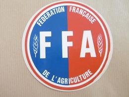 Fédération Française De L'Agriculture FFA Autocollant Agricole Agriculture - Autocollants