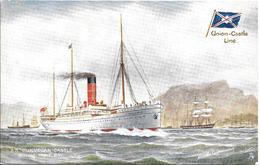 CPA- Vers 1900-PAQUEBOT-S.S.DUNVEGAN CASTLE-Cie ROYAL MAIL UNION CASTLE-Ligne Afrique Sud-TBE - Paquebots