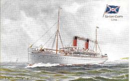 CPA- Vers 1900-PAQUEBOT-S.S.NORMAN-Cie ROYAL MAIL UNION CASTLE-Ligne Afrique Sud-TBE - Paquebots