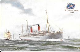 CPA- Vers 1900-PAQUEBOT-S.S.BRITON-Cie ROYAL MAIL UNION CASTLE-Ligne Afrique Sud-TBE - Paquebots
