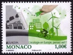 Europa - CEPT 2016 - Monaco - Ecologie - Yvert Nr. 3036 - Michel Nr. 3294  ** - Europa-CEPT
