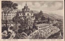 NERVI HOTEL PENSION SCHWEIZERHOF  VG   AUTENTICA 100% - Genova (Genoa)