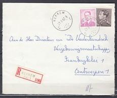 Aangetekend Briefstuk Van Rekkem C Naar Antwerpen - 1936-51 Poortman