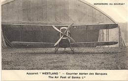 Aviation - Avion WESTLAND - Courrier Aérien Des Banques - 1919-1938: Entre Guerres