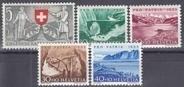 SCHWEIZ  580-584, Postfrisch **, Pro Patria: Seen Und Wasserläufe 1953 - Pro Patria