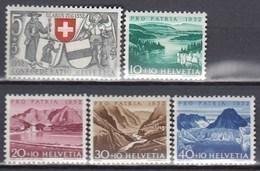 SCHWEIZ  570-574, Postfrisch **, Pro Patria: Seen Und Wasserläufe 1952 - Pro Patria