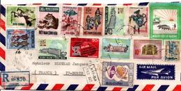 Saigon 1971 - Lettre Recommandée Par Avion Pour France - Vietnam