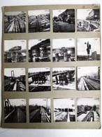 26 PHOTOGRAPHIE : ARGENTEUIL CONSTRUCTION DU PONT VOIE FERREE GARE LOCOMOTIVE REPORTAGE PHOTO NOEL LE BOYER - Argenteuil