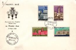 Saint-Dié FDC 1958 - Urbanisme Maubeuge Le Havre Sète - FDC