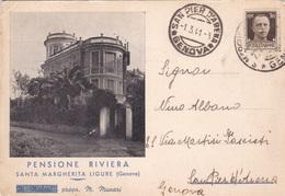 SANTA MARGHERITA LIGURE PENSIONE RIVIERA  VG AUTENTICA 100% - Genova (Genoa)