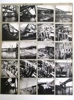 26 PHOTOGRAPHIE : PONT DE VERBERIE CONSTRUCTION DU PONT VOIE FERREE GARE LOCOMOTIVE TRAIN REPORTAGE PHOTO NOEL LE BOYER - Verberie