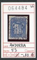 Andorra - Andorre -  Michel 5 - Oo Used Gebruik Oblit. - Andorre Français