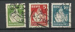 Estonia 1933 Singing Festival Harp Michel 99  - 101 O - Music