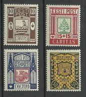 Estland Estonia 1938 CARITAS Michel 131 - 134 * - Estonia