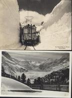 2 CP Suisse Berninabahn Mit Berninagruppe+ Die Berninabahn Im Winter Schnee Kanal Die Bernina Bahn Via Engadin - BE Berne