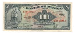 Mexico 1000 Pesos 1974. XF/AUNC. Violet Seal - Mexique