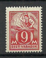 Estland Estonia 1923 Michel 38 A Blacksmith MNH - Estonia