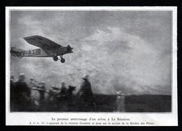 1930  -  LA RIVIERE DES PLUIES  PREMIER ATTERRISAGE D AVION A LA REUNION  3R005 - Old Paper